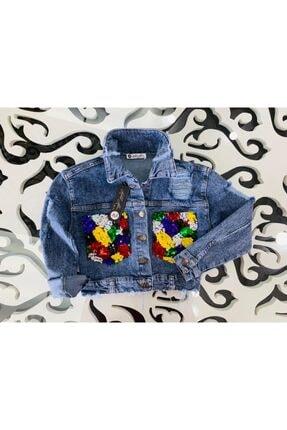 Hilal Akıncı Kids Çocuk Pullu Cepli Kot Ceket