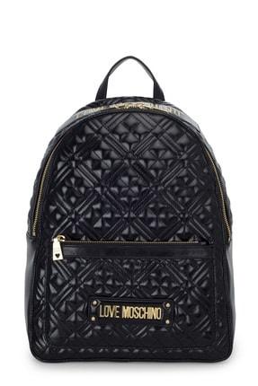 Love Moschino Kadın Siyah Logo Baskılı Ayarlanabilir Askılı Çanta Jc4007pp1bla0000