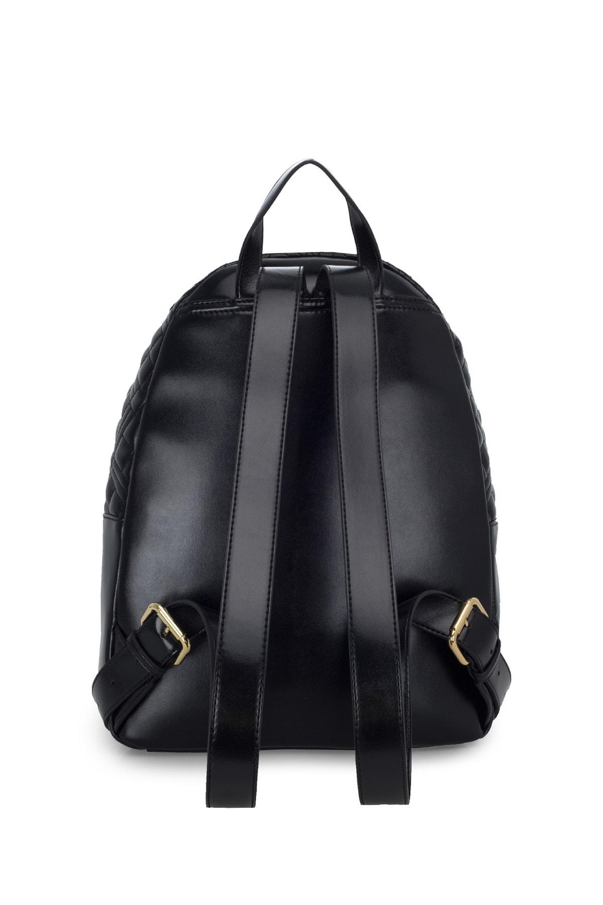 Love Moschino Kadın Siyah Logo Baskılı Ayarlanabilir Askılı Çanta Jc4007pp1bla0000 2