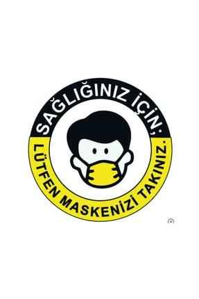 DMR Türkçe Ingilizce Maske Takınız 20 Adet