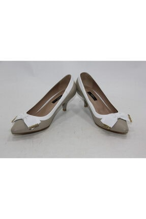 İnci Kadın Vizon Hakiki Deri Klasik Topuk Ayakkabı