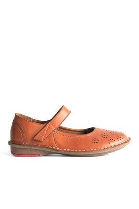 Beta Shoes Kadın Kahverengi Bantlı Babet