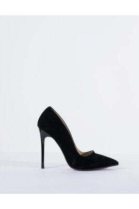 Vision Kadın Siyah Süet Topuklu Ayakkabı