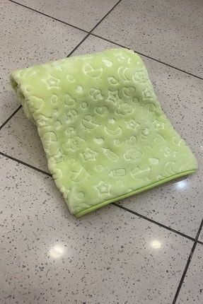 Özdilek Embos Bebek Battaniyesi Yeşil