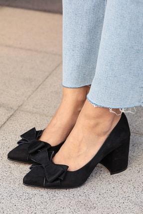 Mio Gusto Siyah Kadın Topuklu Ayakkabı 002057BL