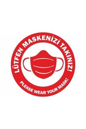 DMR 50 Adet Maske Takınız Türkçe Ingilizce