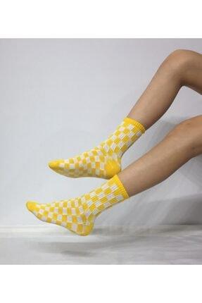ADEL ÇORAP Unisex Sarı Penye Kolej Çorabı