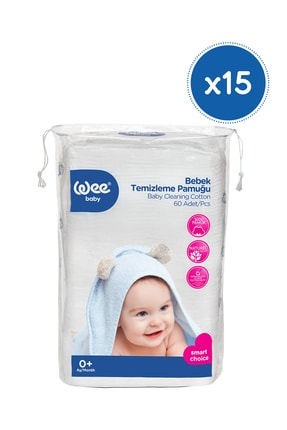 Wee Baby Bebek Temizleme Pamuğu 15x60'lı