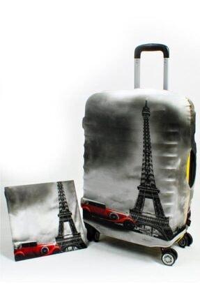 NK Valiz Koruyucu Kılıf Büyük Boy Mv8818 M1_arabalı Eiffel