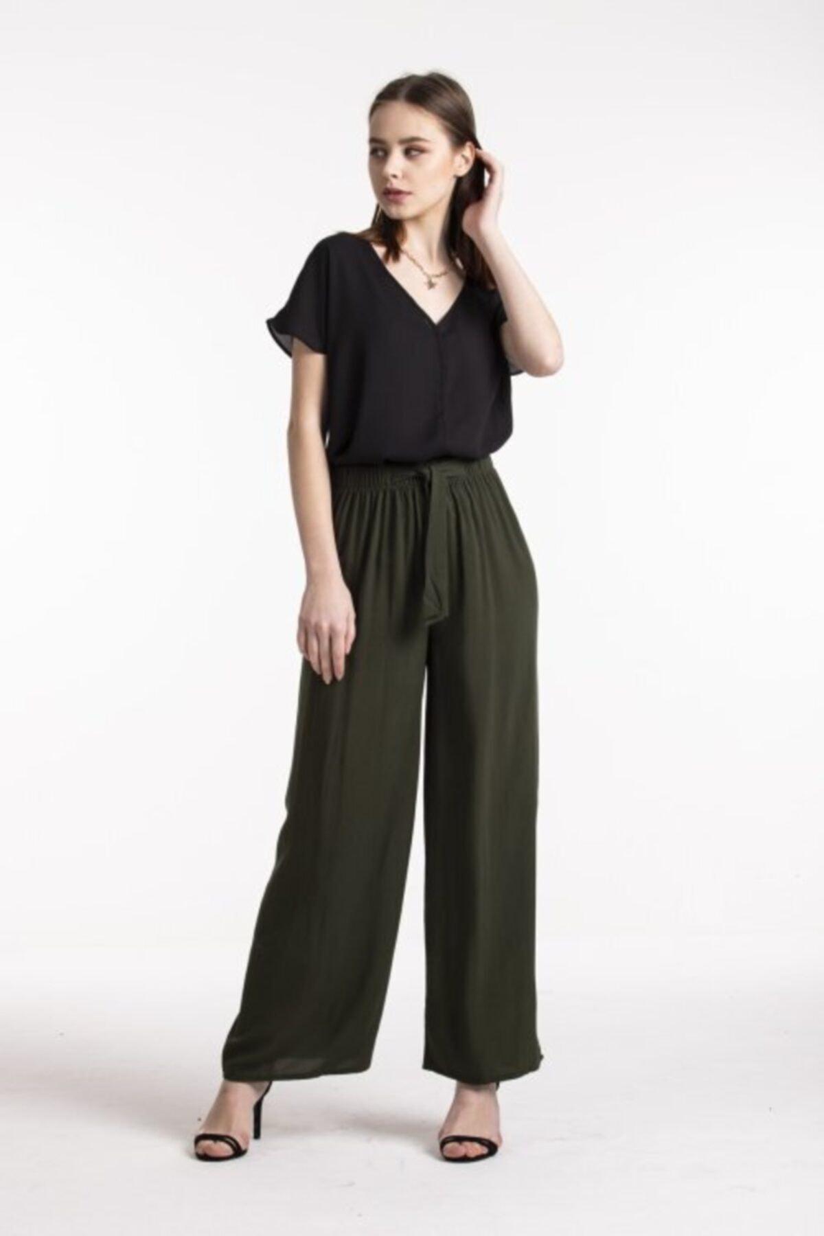 Vision Kadın Yüksek Bel Bol Pantolon 1