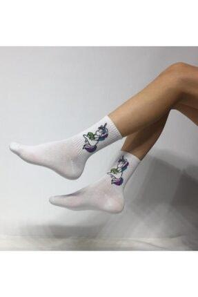 ADEL ÇORAP Beyaz Kokulu Kolej Çorabı