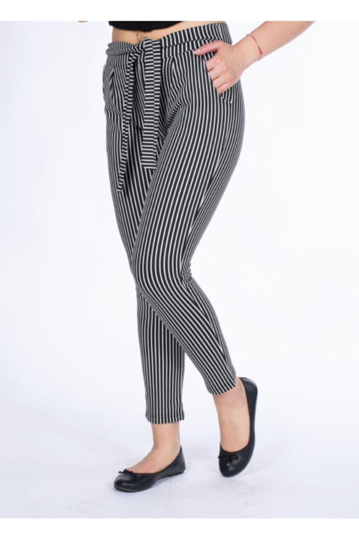 Vision Kadın Çizgili Pantolon 1