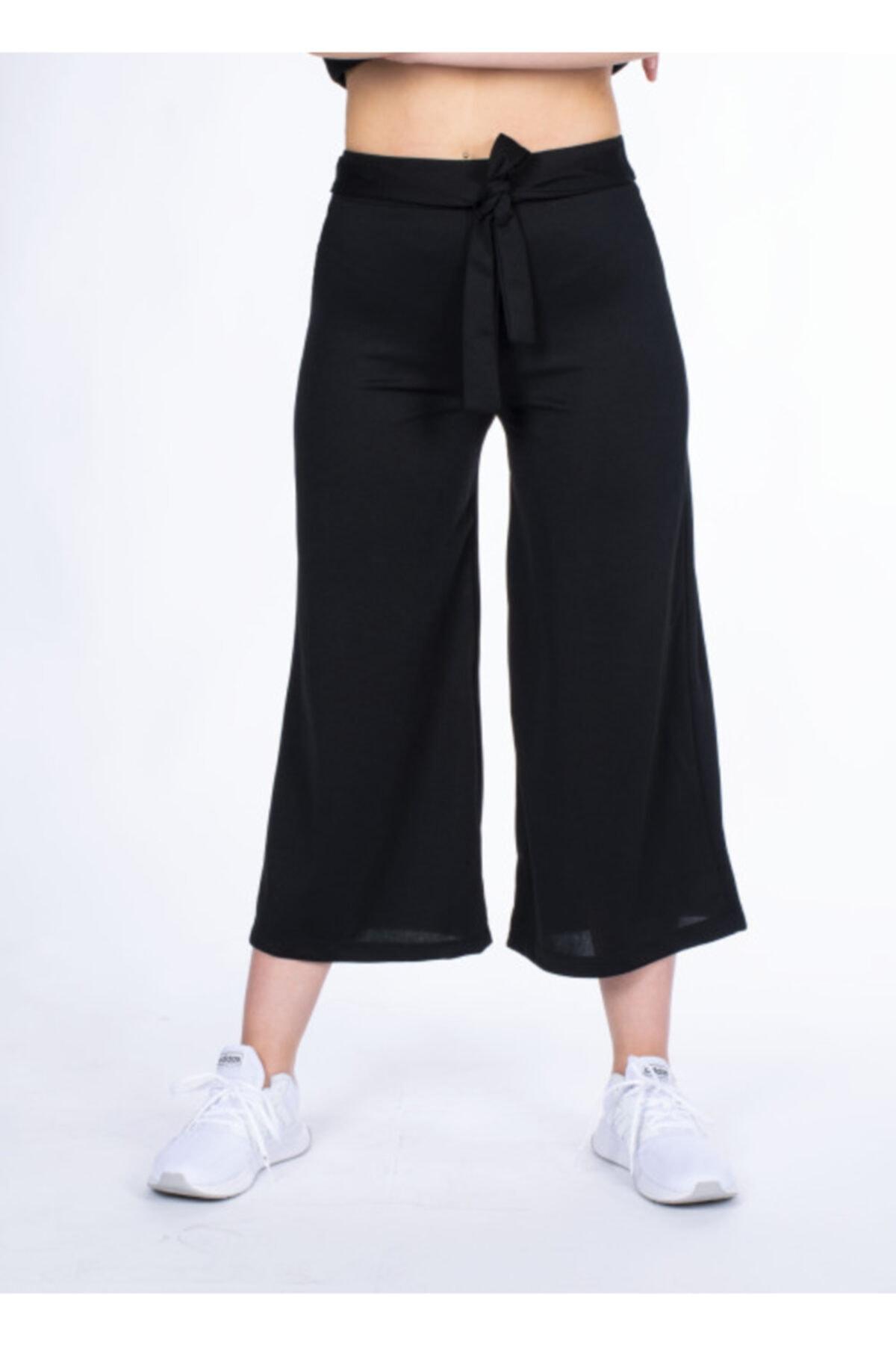 Vision Kadın Siyah Kemer Detaylı Pantolon 1
