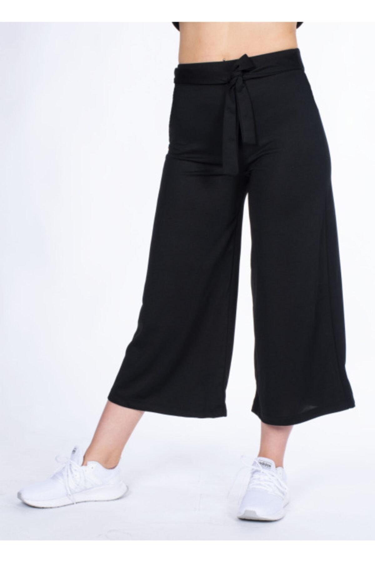 Vision Kadın Siyah Kemer Detaylı Pantolon 2