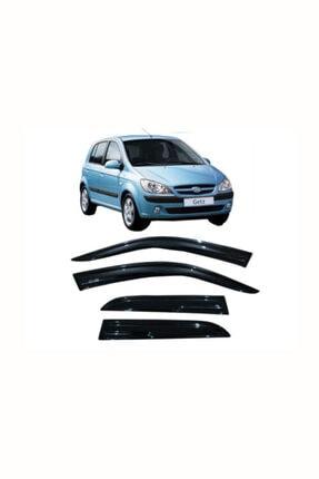 CARDANADAM Hyundai Getz 2008 Model 4 Lü Cam Rüzgarlığı Kendinden Bantlı Parlak Siyah Şık Tasarım 1. Kalite