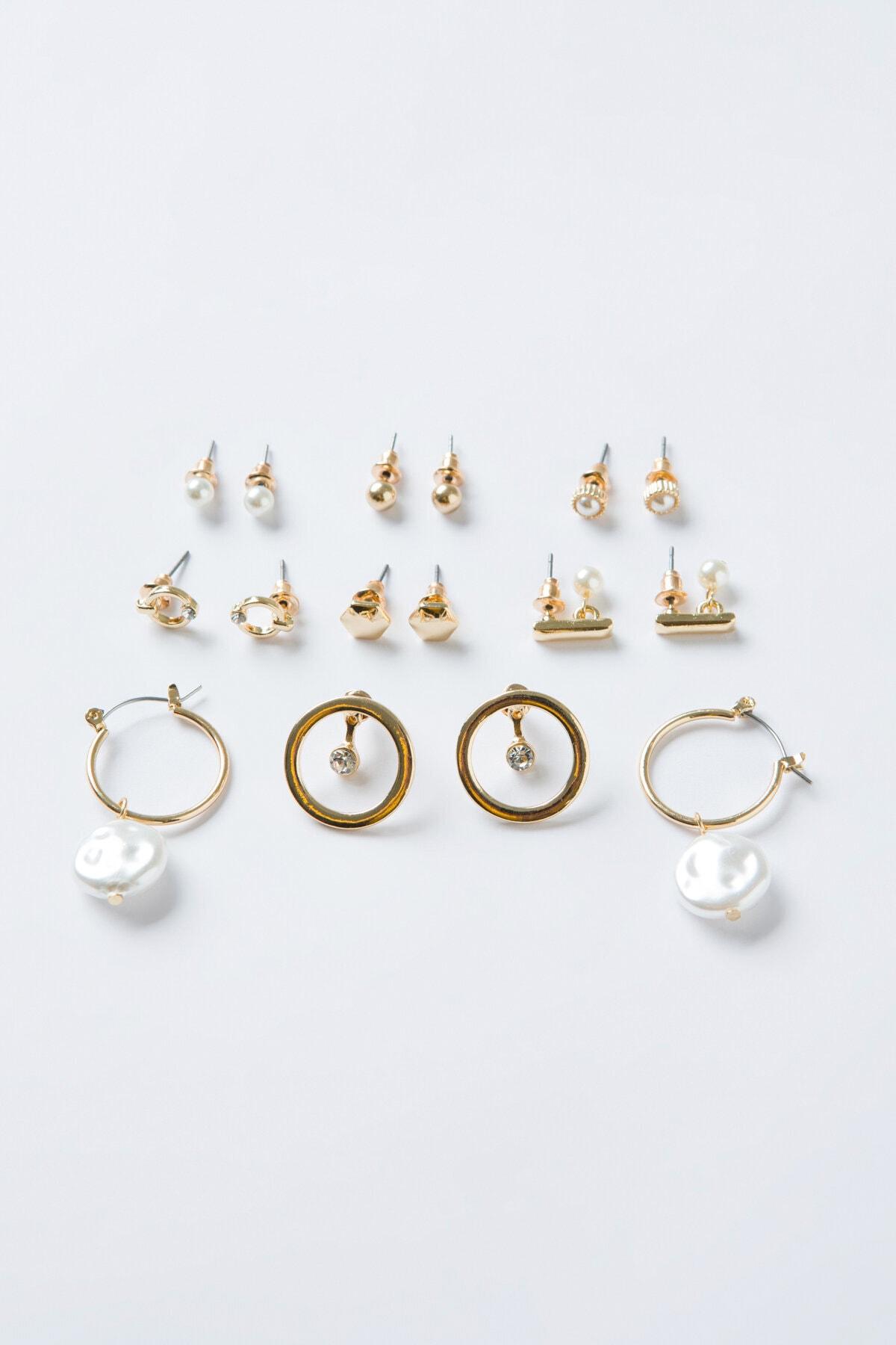 Penti Gold Pearl Küpe Set 1