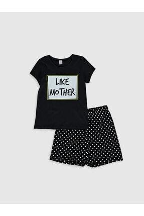 LC Waikiki Kız Çocuk Yeni Siyah Cvl Pijama Takımı
