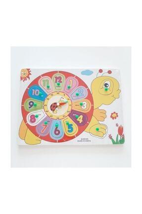 BEBEBEBEK Ahşap Puzzle Sevimli Kamlumbağa Saati Öğreniyorum