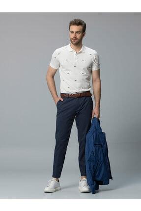 Lufian Erkek Beyaz Brontes Smart Polo Yaka T-shirt