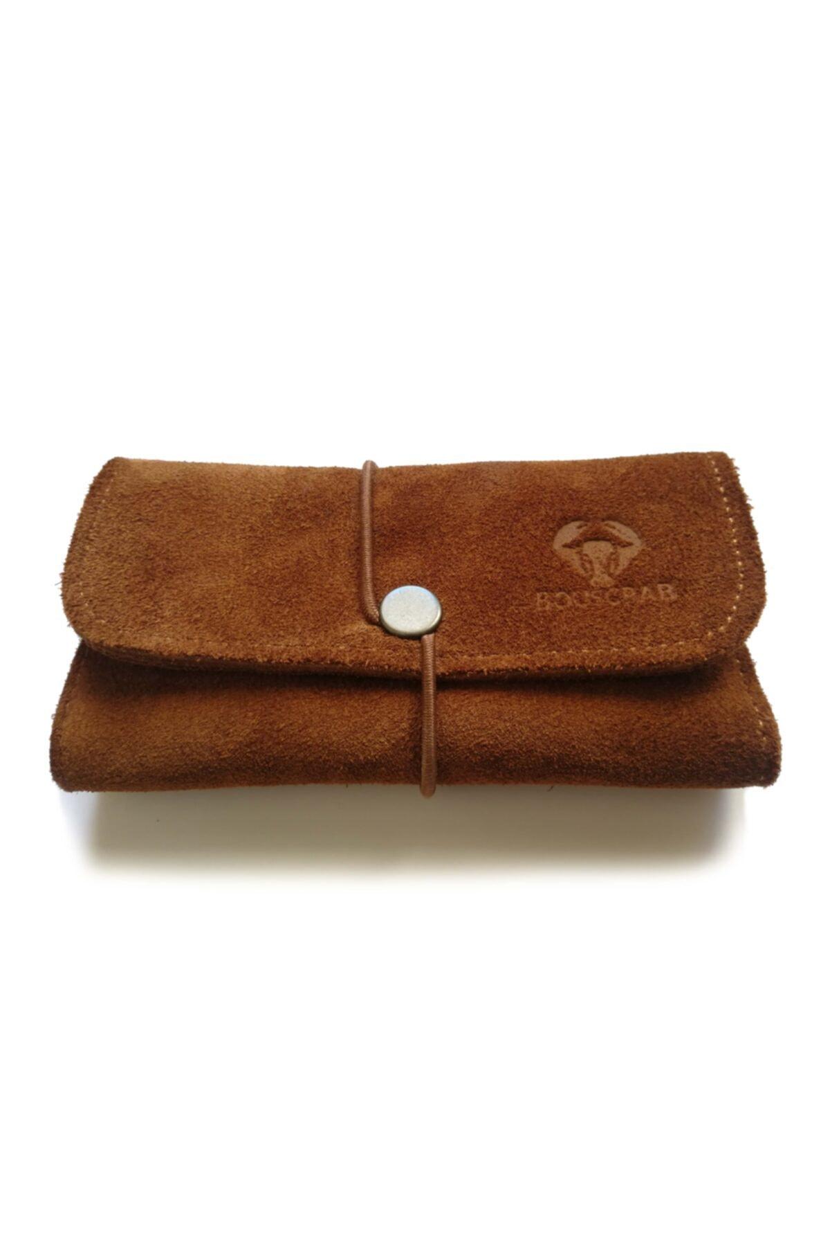 English Leather Tutun Kesesi Cüzdan Tutun Çantası %100 Süet Deri 1
