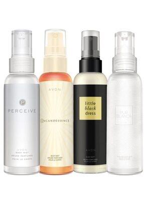 AVON Body Mist Parfümlü Vücut Spreyleri Dörtlü Paket