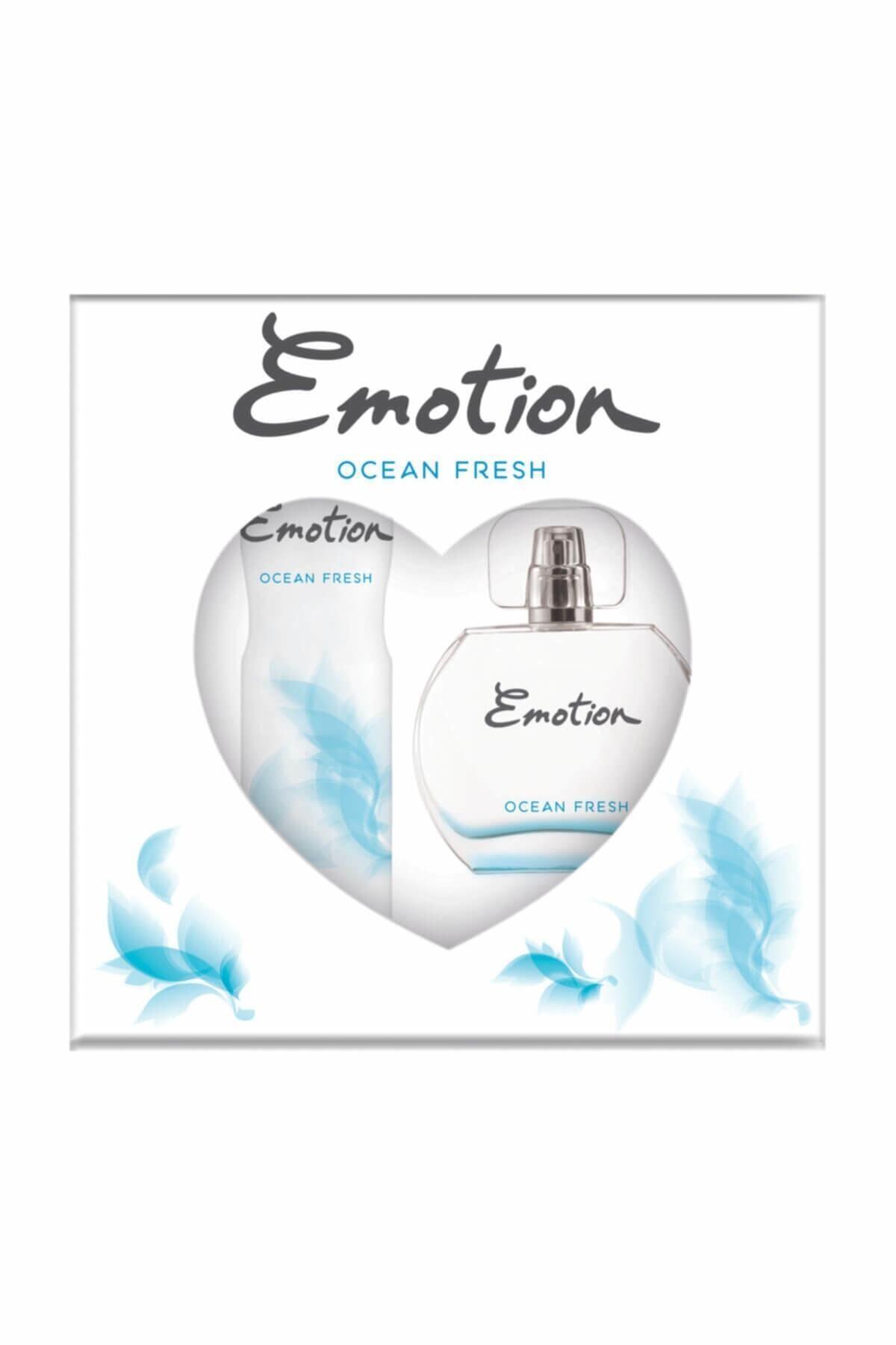 Emotion Ocean Fresh Edt 50 Ml + 150 Ml Deodorant Kadın Parfüm Seti 8690586016667 1