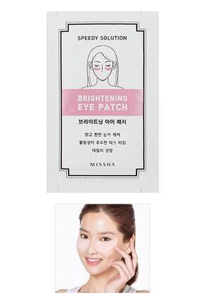 Missha Hyaluronik Asit içerikli Aydınlatıcı Göz Maskesi Speedy Solution Brightening Eye Patch