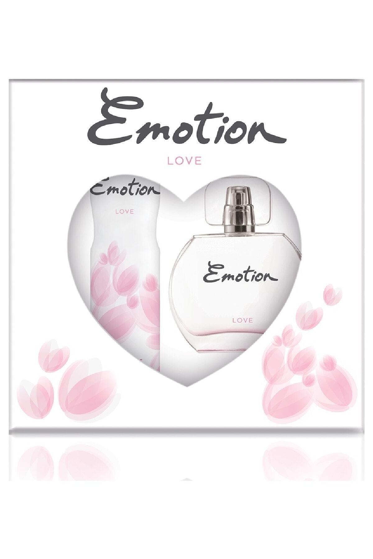 Emotion Love Edt 50 ml Kadın Parfüm 150 ml Deodorant Seti 1