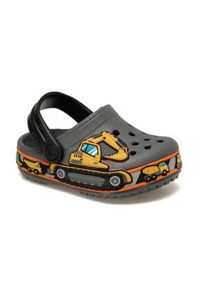 Crocs Kids FUN LAB GRAPHIC Koyu Gri Unisex Çocuk Terlik