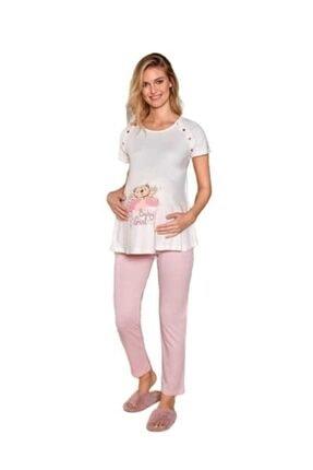 Berrak 897 Kadın Hamile Lohusa Pijama Takımı Pembe