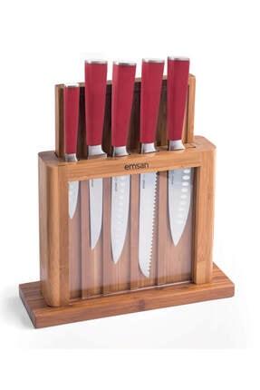 Emsan Matriks 7 Parça Sandık Kesme Tah Bıçak Seti Kırmızı