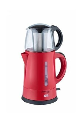 AWOX Teaplus Kırmızı Elektrikli Cam Demlikli Çaycı Çay Çakinesi