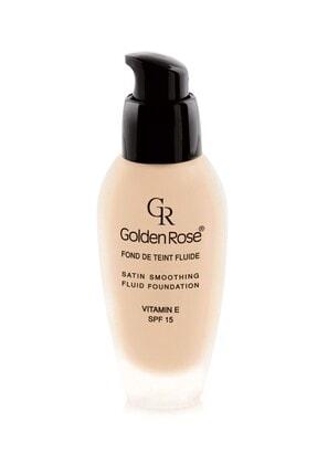 Golden Rose Likit Fondöten - Satin Smoothing Fluid Foundation Spf 15 No: 29 34 ml 8691190114299
