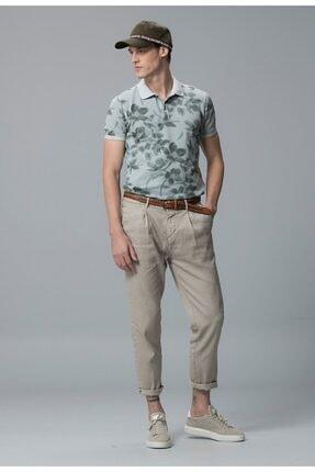 Lufian Erkek  Vintage Polo T- Shirt Taş 111040004100190