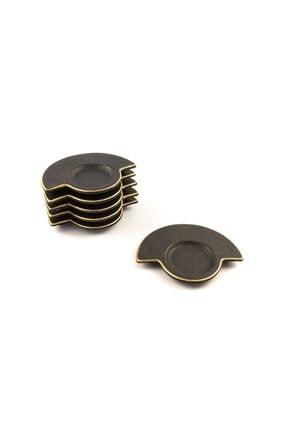 Mikasa Moor Black Lily 6lı Çay Tabağı