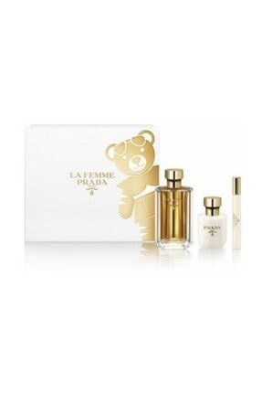 Prada La Femme Edp 100 ml + Vücut Losyonu 100 ml + Roll-On 10 ml Kadın Parfüm Seti 8435137786442