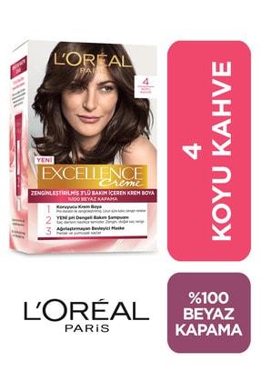 L'Oreal Paris Saç Boyası - Excellence No: 4
