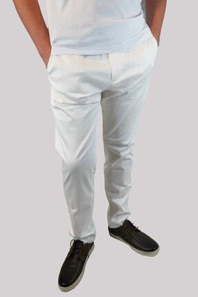 Mcr 38745 Erkek Beyaz Pamuklu Pantolon