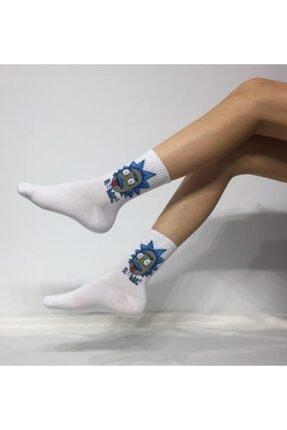 ADEL ÇORAP Unisex  Beyaz Kokulu Kolej Çorabı