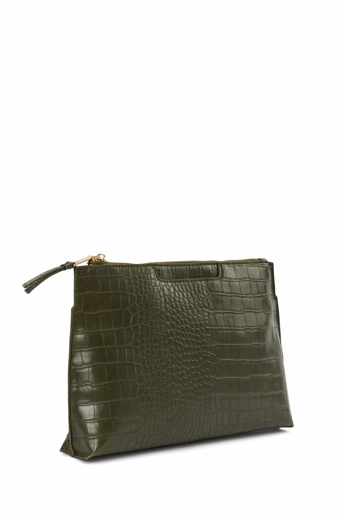 İpekyol Kadın Gri Krokodil desen çanta IW6200052001 1