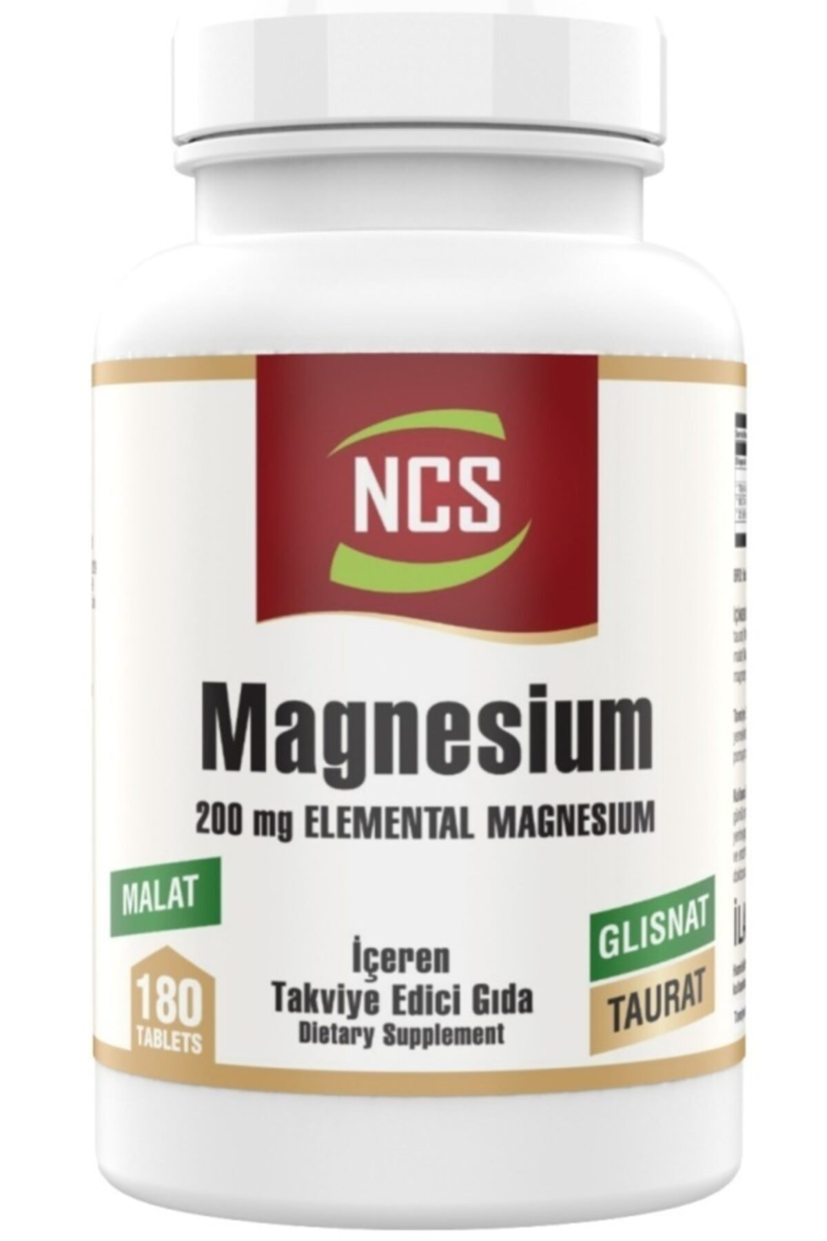 NCS Magnesium Bisglisinat Malat Taurat 180 Tablet Magnezyum Element Formül 1