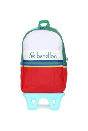 United Colors of Benetton Unisex Benetton Iki Bölmeli Tekerlekli Sırt Çantası 70033