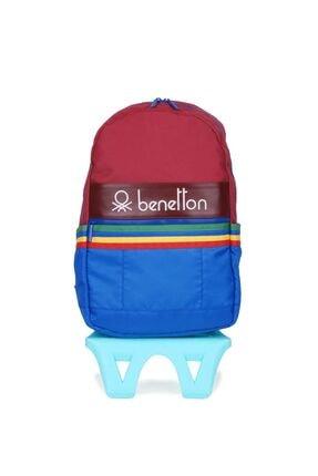 United Colors of Benetton Unisex Benetton Iki Bölmeli Tekerlekli Sırt Çantası 70045