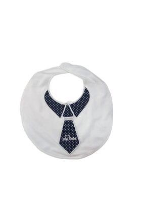 Sevi Bebe 027 Erkek Bebek Kravat Nakışlı Mama Önlüğü