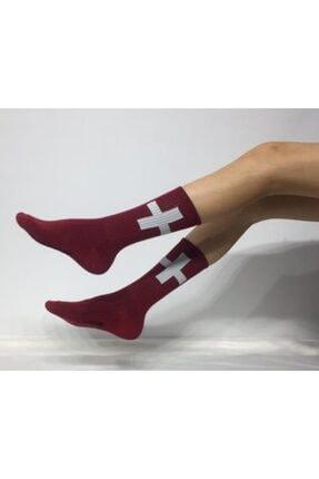 ADEL ÇORAP Bordo Soket Çorap