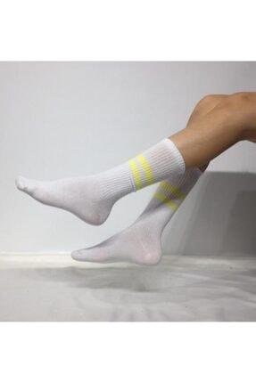 ADEL ÇORAP Unisex Beyaz Soket Çorap