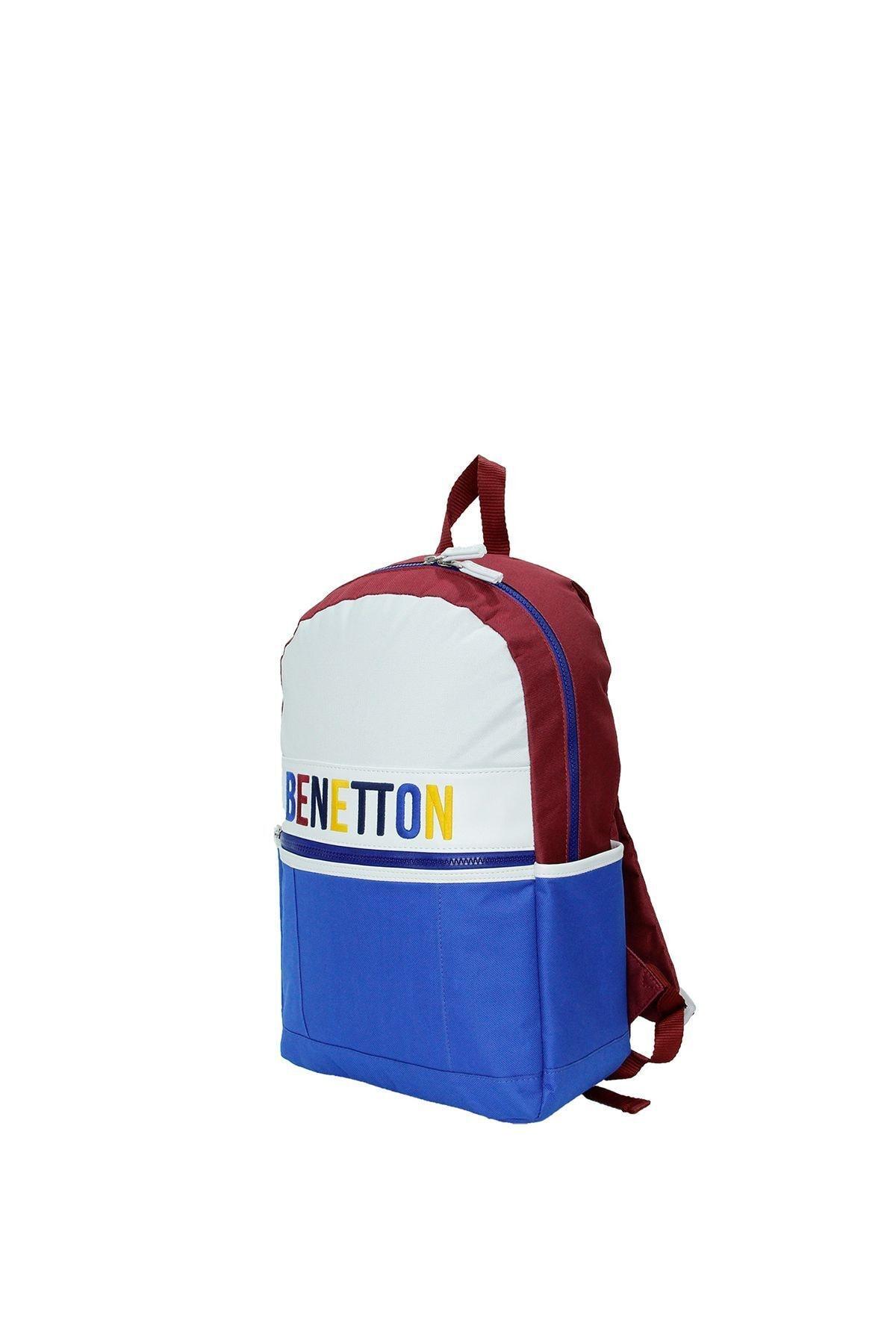 United Colors of Benetton Unisex Mavi Ön Cepli Sırt Çantası 70062 2