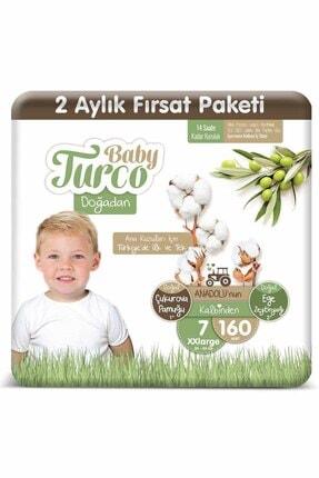 Baby Turco Doğadan 7 Numara Xxlarge 160 Adet
