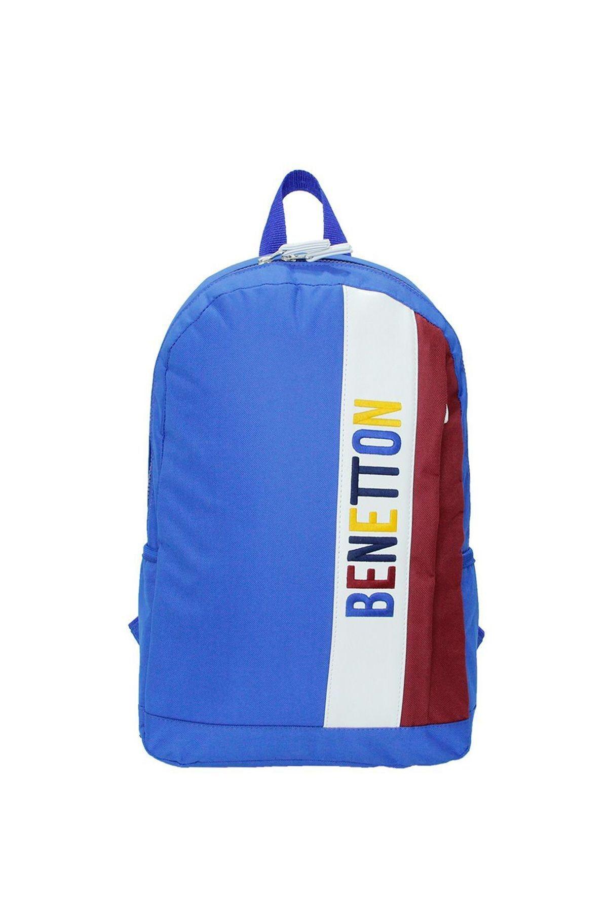 United Colors of Benetton Bordo Mavi Dikey Ön Cepli Sırt Çantası 70063 1
