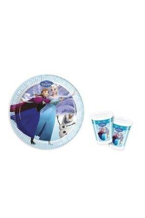 Frozen Elsa Karlar Ülkesi Tabak Ve Bardak 8 Adet